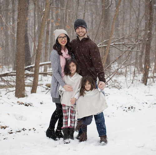 """Amanda Fagan and her family:""""Living with intention is not an 'end goal,' but rather it is the process itself that brings about positive change that moves us forward from where we previously stood and towards where we want to go and what we want to accomplish."""""""