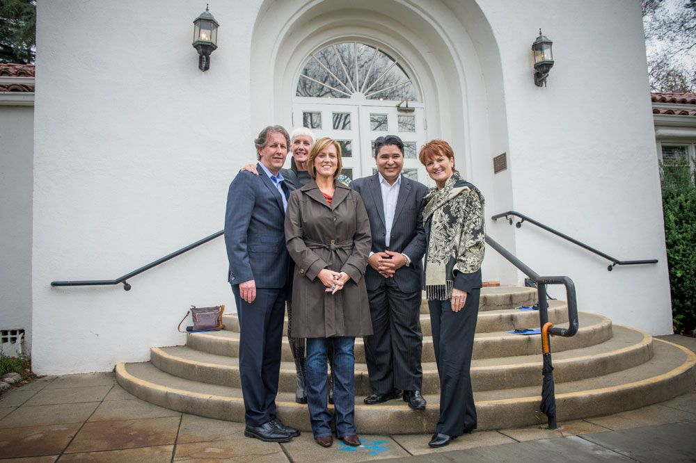 Carranza with previous Spirit of Life honorees, from left: Robert Passage, on behalf of his late father Pivot Point Founder Leo Passage who received the Spirit of Life Award, Jan Arnold of CND, Sara Jones of Joico, Carranza, and longtime Redken executive Anne Mincey.