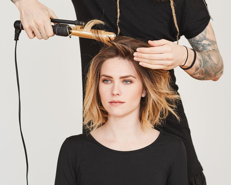 <strong>Step 3: </strong>Move the iron quickly so the hair doesn't have a firm shape, but stays smooth.