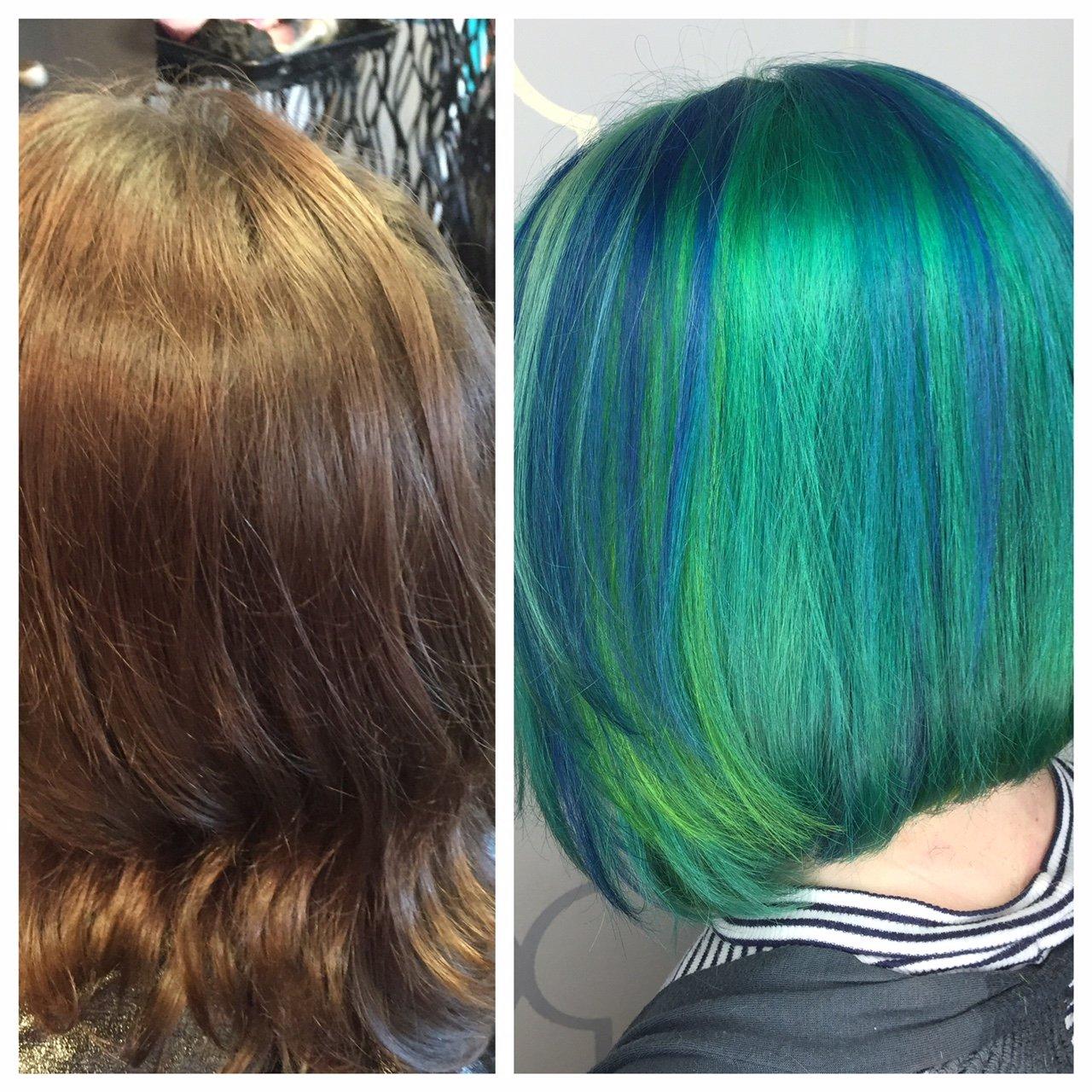 TRANSFORMATION: Virgin To Blue/Green Melt