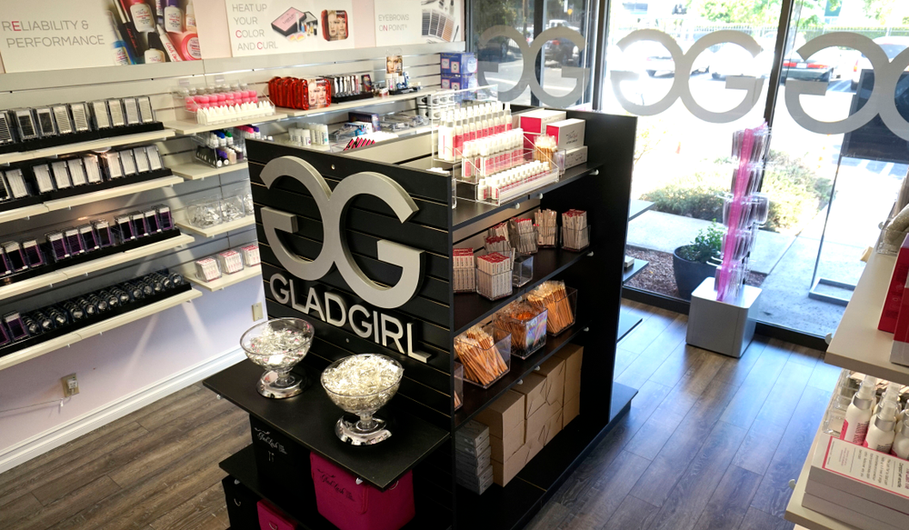 The GladGirl store is located at 19201 Parthenia Street, Suite G, Northridge, CA 91324.