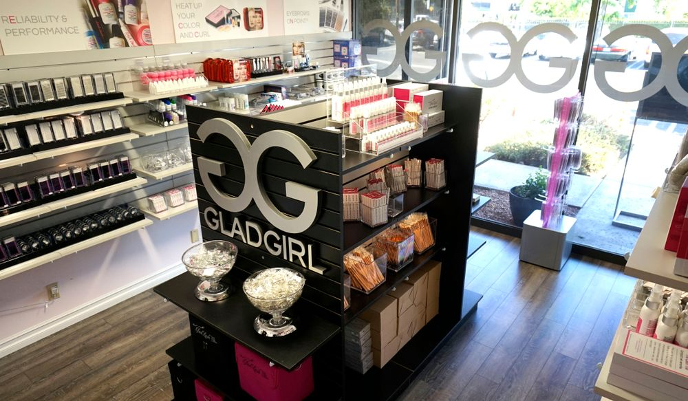 The GladGirl store is located at 19201 Parthenia Street, Suite G, Northridge, CA 91324.