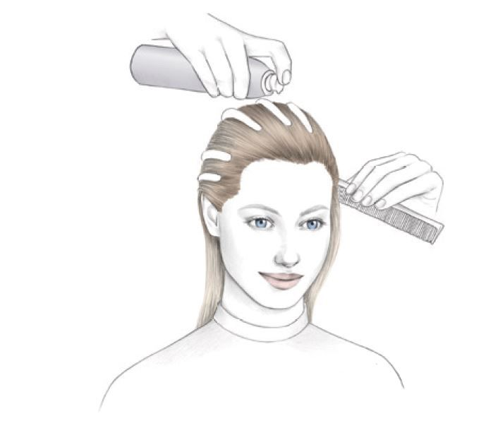 <strong>STEP 5:</strong> On damp hair, apply Dramatize It Volumizing Mousse from roots to ends. Blow-dry the hair with a Denman brush.