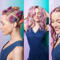 What Is SunBun? — The New Hair Coloring Technique That Incorporates Top Knots and '90s Tie-Dye