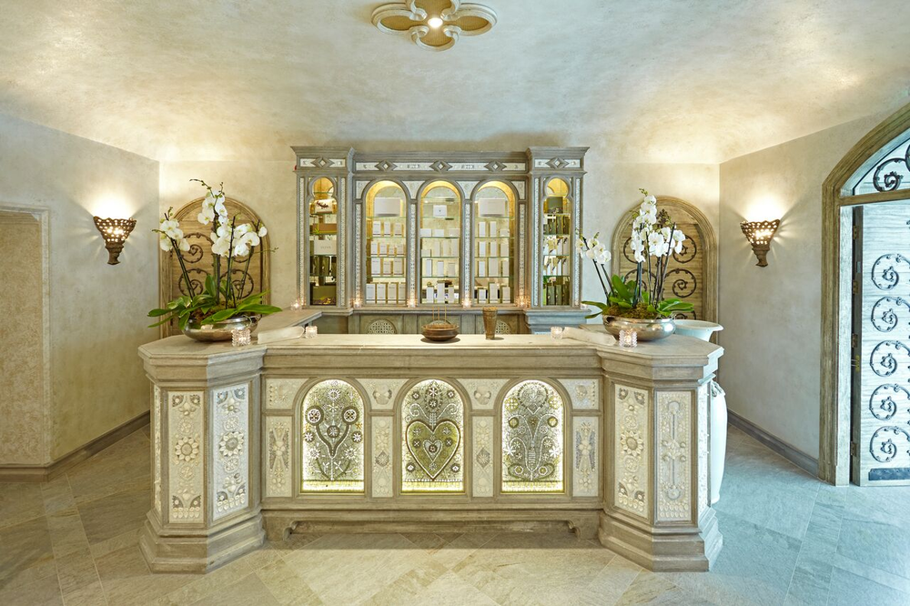 The reception area at The Spa at Ashford Castle.