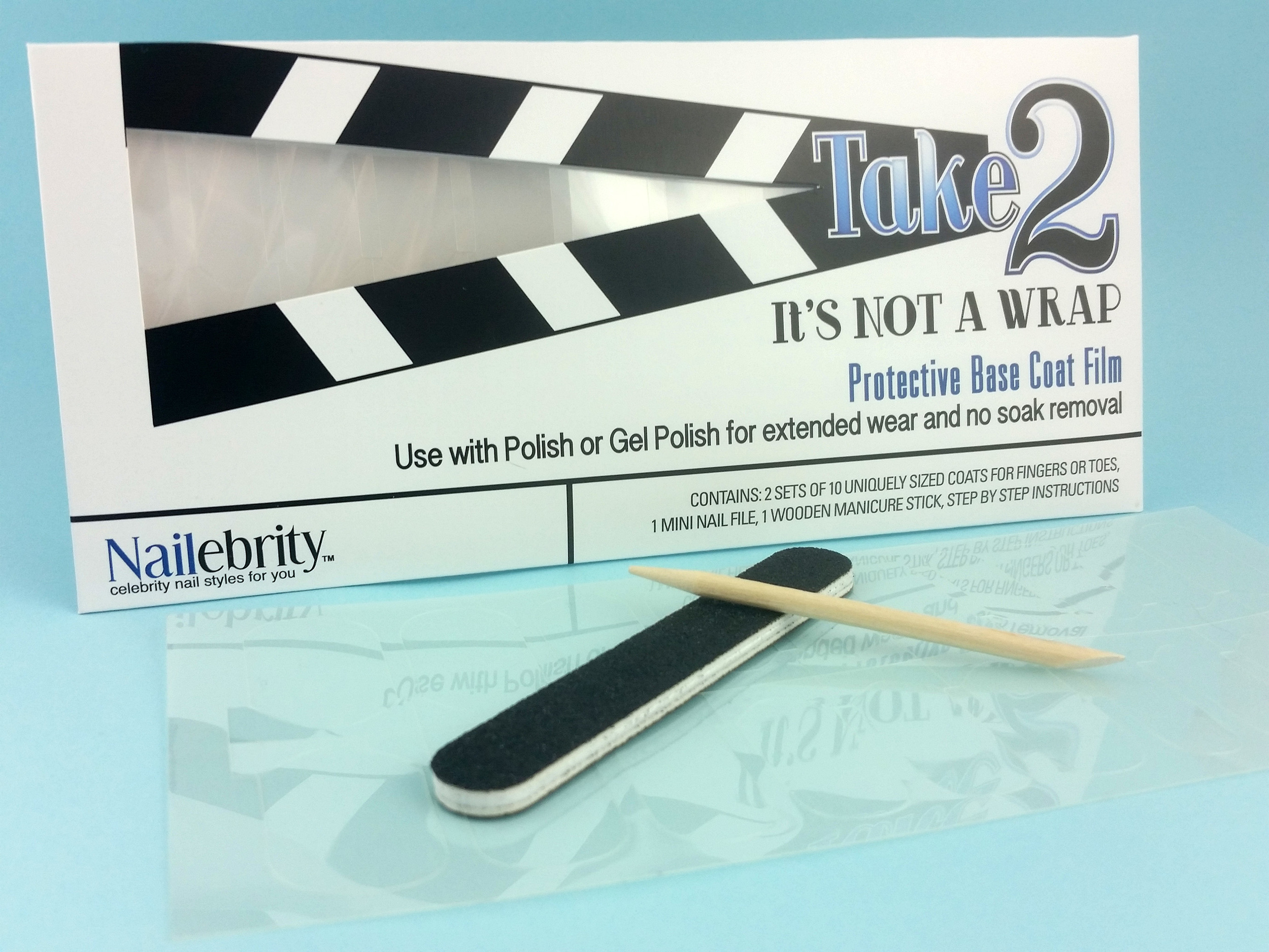 Nailebrity Take2 It's Not a Wrap! Base Coat Film