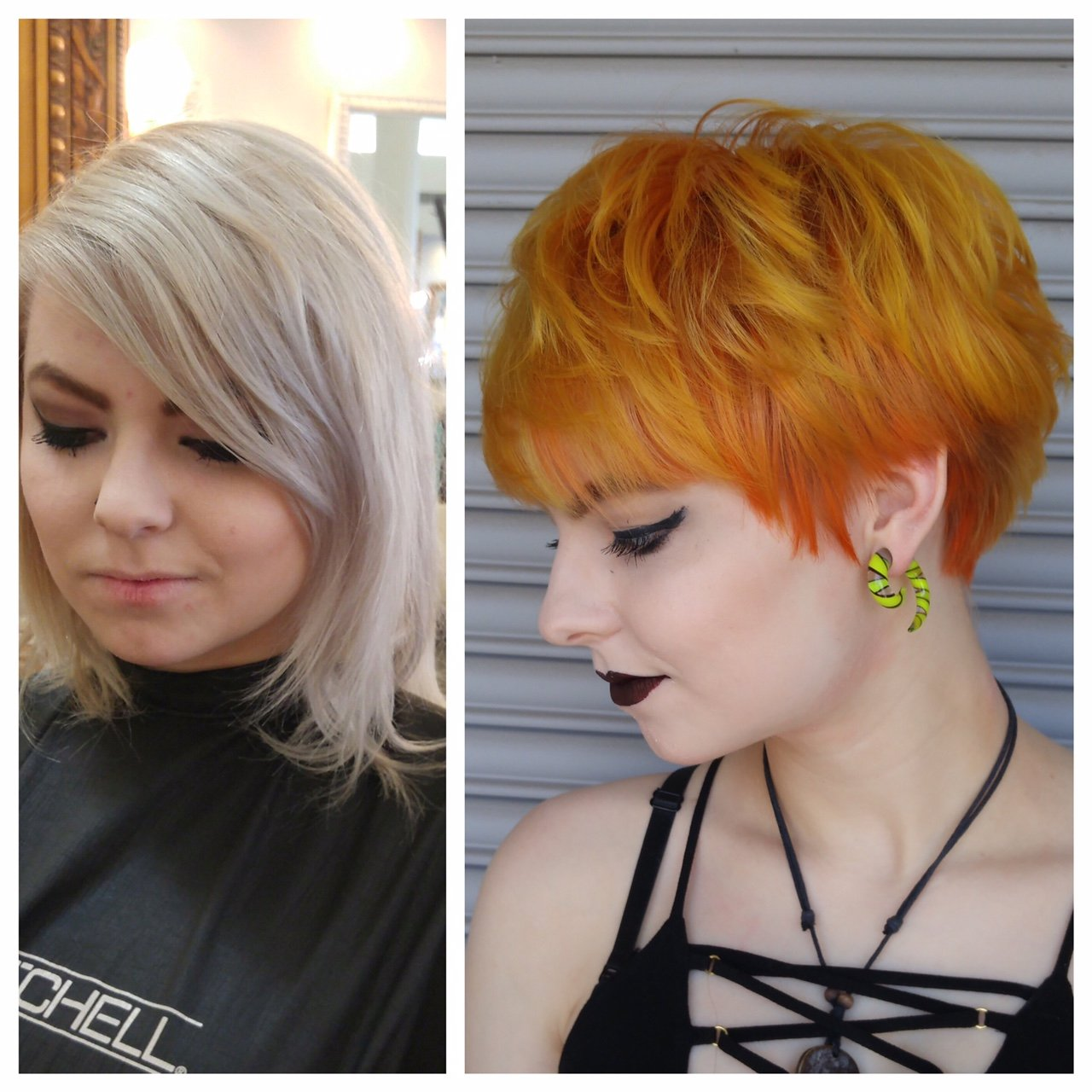 MAKEOVER: Faded Silver to Strawberry/Copper Blonde