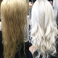 MAKEOVER: Faded Partial Weave To Platinum Ice