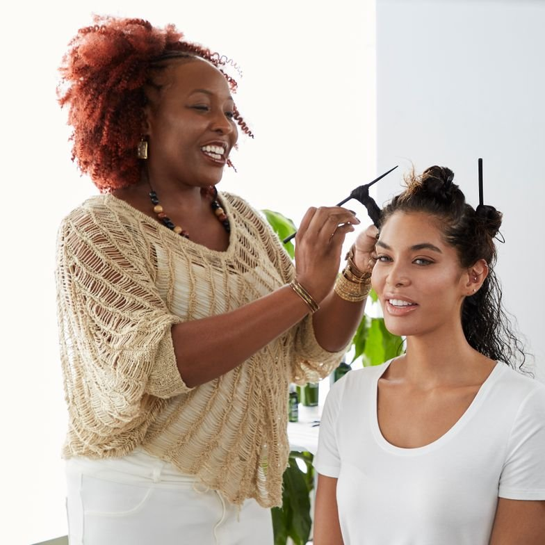 <p><strong>As an alternative to the iconic Zulu Knots, Paula Peralta and LaDonna Dryer (shown) have perfected their Bantu Knot technique to create stunningly perfect curl formations.</strong></p>