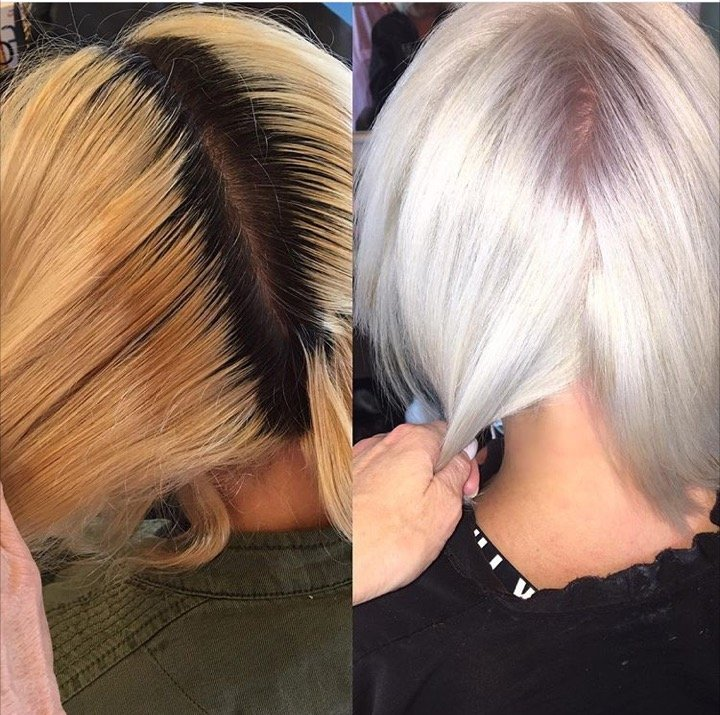 Makeover: Grown Out and Faded To Ice Blonde