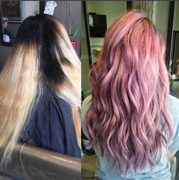7 Hours Later: Vintage Rose Hair Color Makeover with Schwarzkopf Formula