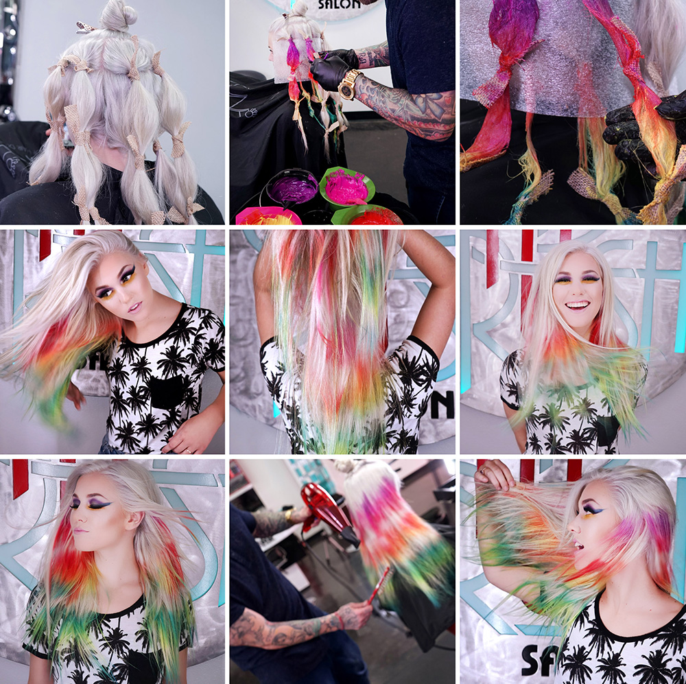NEW TREND: Psychedelic Tie-Dye Haircolor Technique