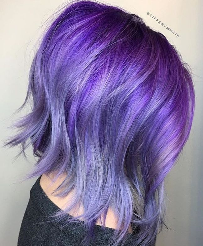 @tiffanymhair created this smoky purple with shiny dimension using Pulp Riot hair color.