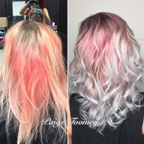 Color Correction: Shining Silver with Soft Pink