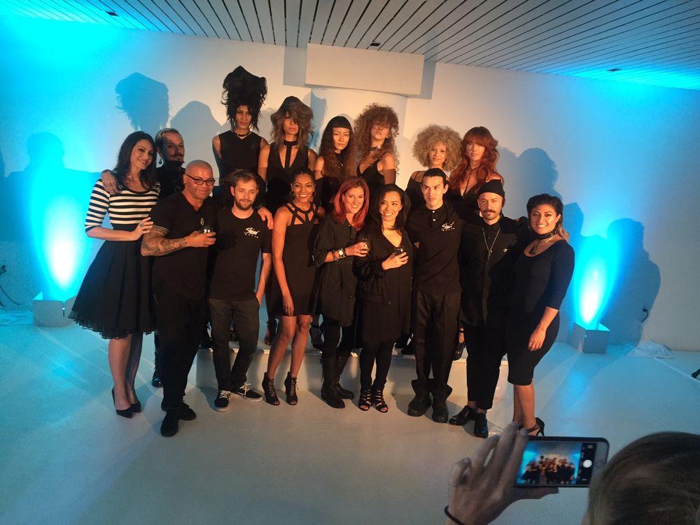 Design Team Members, models and Sebastian Professional team.