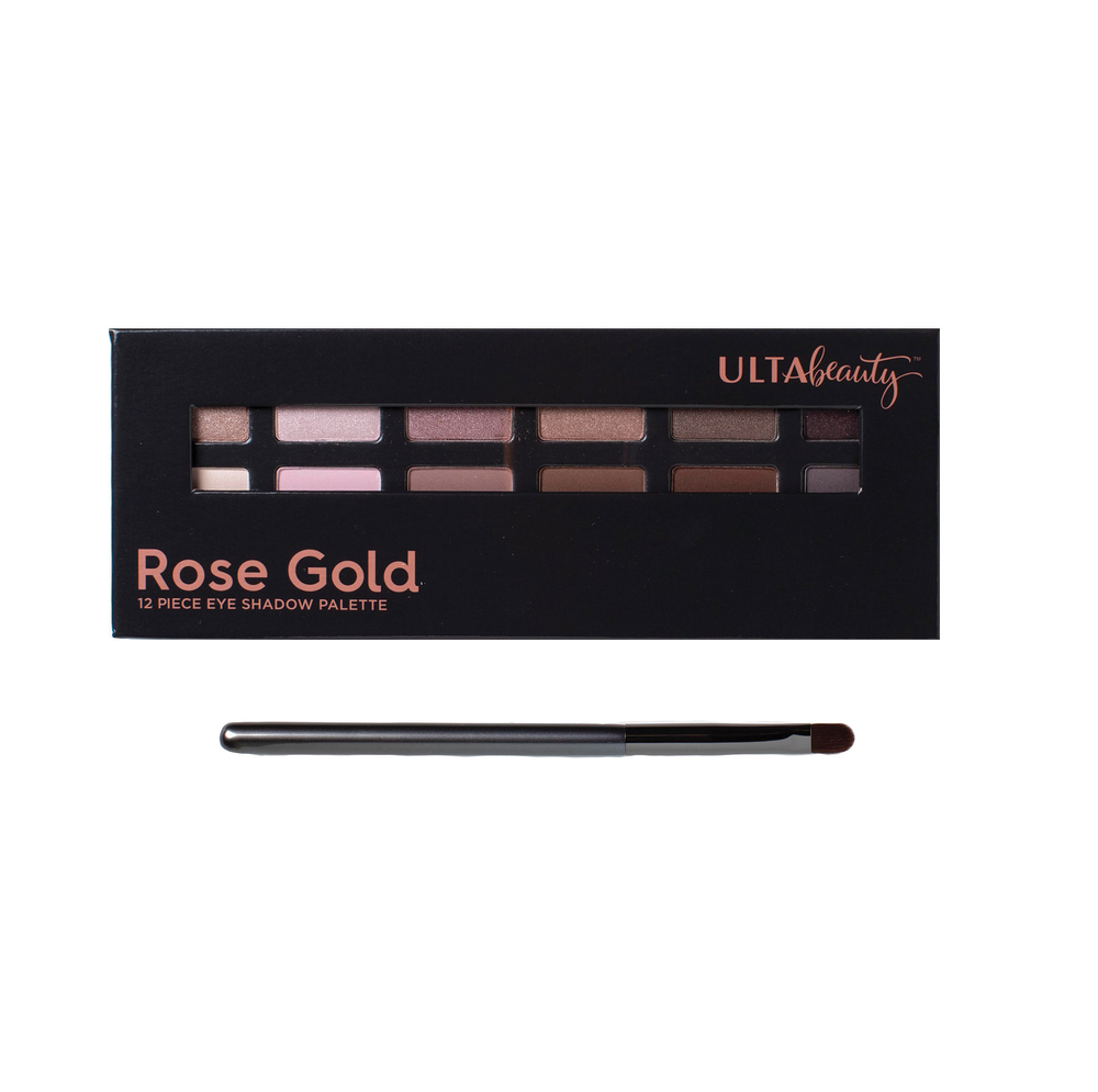 <strong>ULTA Rose Gold 12-Piece Eyeshadow Palette:</strong> All that glitters is rose gold, with these blendable matte, glitter and shimmer shades.