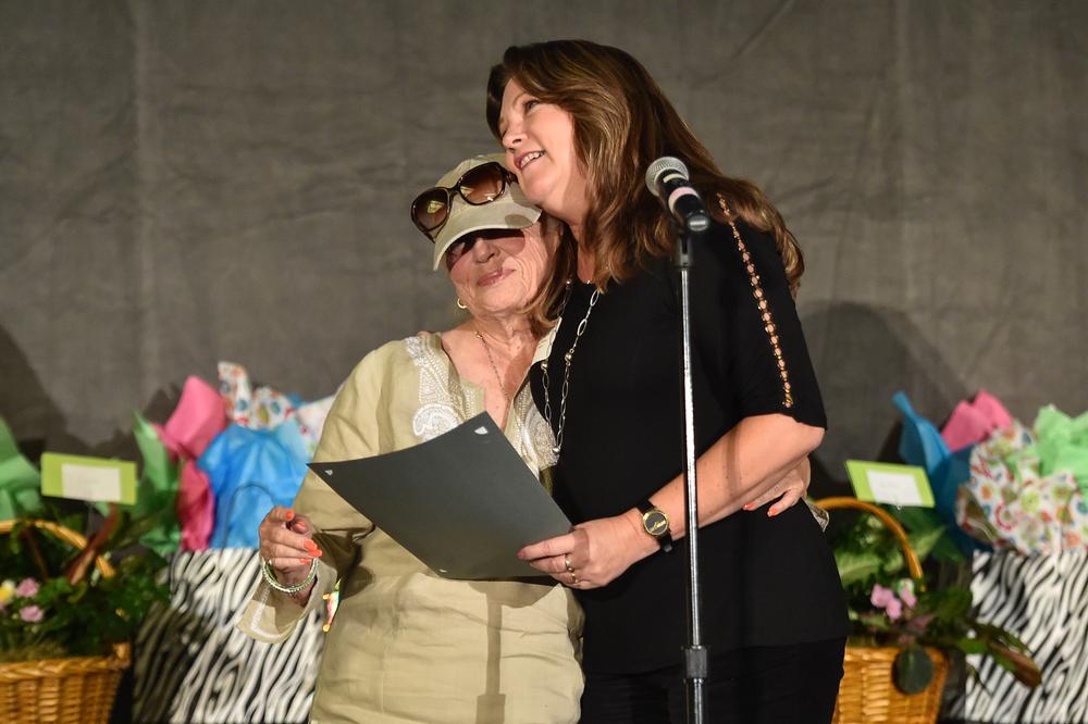 Teacher honoree Janice (Janny) M. Perondi, Woodruff Regional Occupational Center, Stockton, CA and her nominating stylist, Lilah Larkin of the Regis Corporation