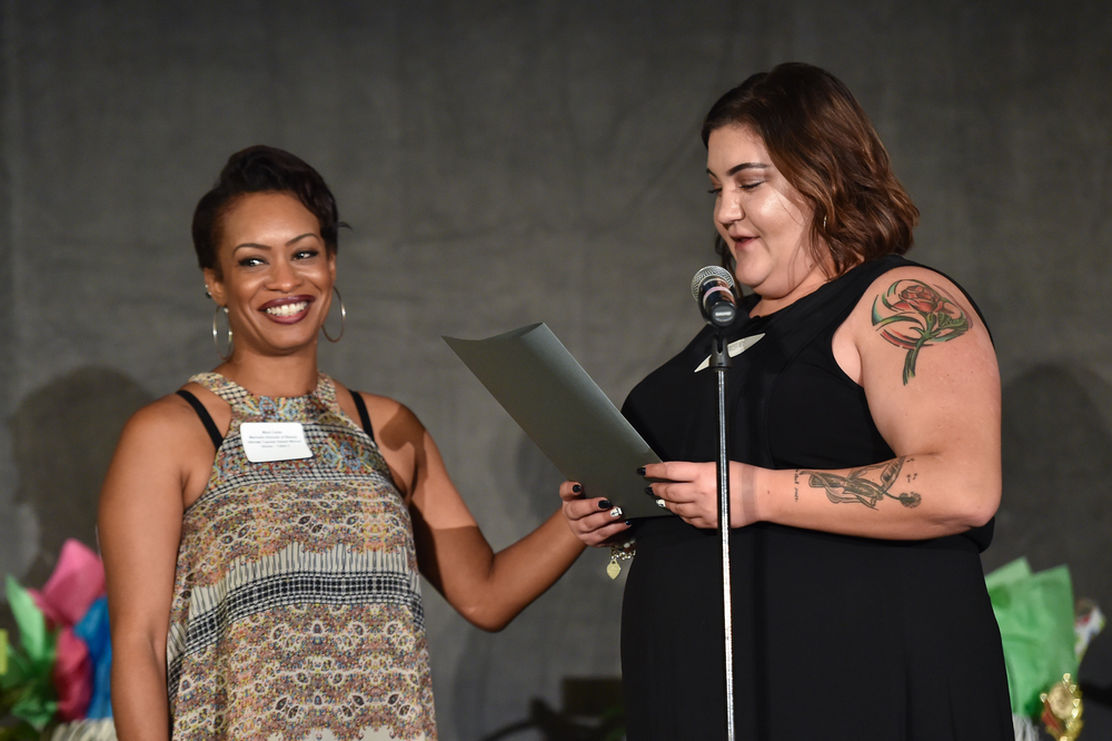 Teacher honoreeMora Carter, Marinello Schools of Beauty and her nominating stylist, Simona Lutz of Lake Forest Supercuts