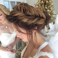Updo How-To: Fishbone Halo Braid from Bridal Hair Couture By Katie