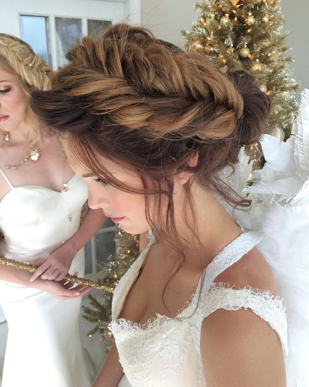 Hair: Katie D'Souza of Bridal Hair Couture By Katie <br />Makeup: Monica Rosati of Monica's Makeup Toronto <br />Orchestrated and designed: Maret Kendra of Maret Designs Photography: Mohsin Javed of MJ Photography <br />Accessories: Valencienne Bridal Design