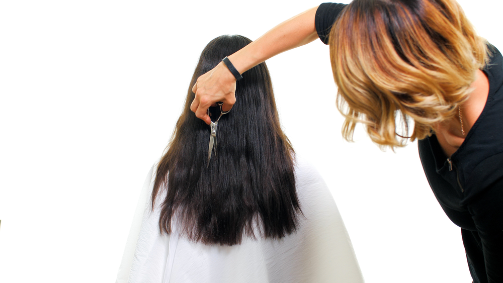STEP 8A: Slice and point cut throughout to create texture and remove bulk to create the desired look.