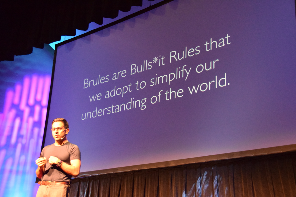 "Vishen defines ""Brules""--Bullsh*t rules that we adopt to simplify our understanding of the world."