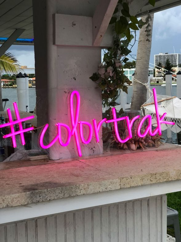 Colortrak threw an Ibiza-themed dinner to celebrate the launch of its new summer collection.