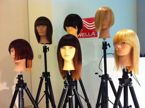 Mannequin heads on display at The Studio.
