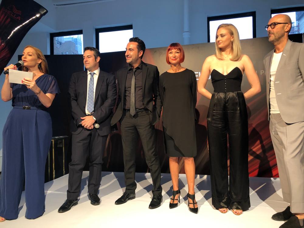 <ul> <li>Presenters, from left: Cheryl Kramer Kaye, Moderator; Vito Pollina, Chief Marketing Officer; David Sarro, R+D Director; Sonya Dove, Global Creative Artist; Sophie Turner, Brand Spokesperson; Rossano Ferretti, Creative Director</li> </ul>