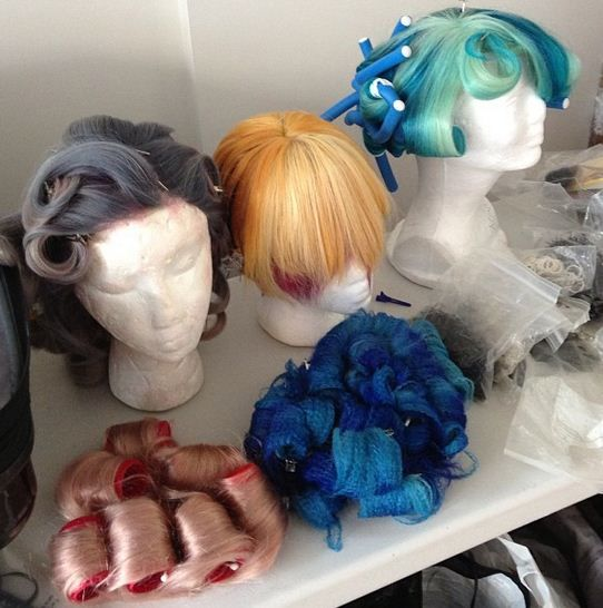 Hunger Games wigs created by Christopher Dove for a photo shoot with Modern Salon Media.