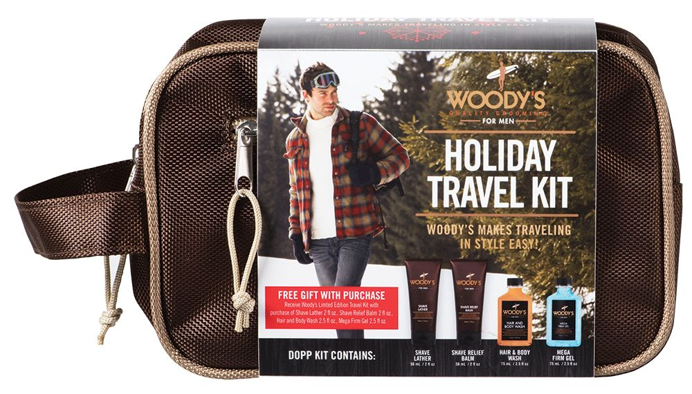 Woody's kits appeal to men's beard needs and travel habits.