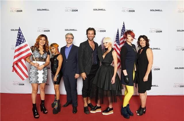 The US finalists with Trevor Attenborough, President and General Manager, KAO USA, Salon Division.