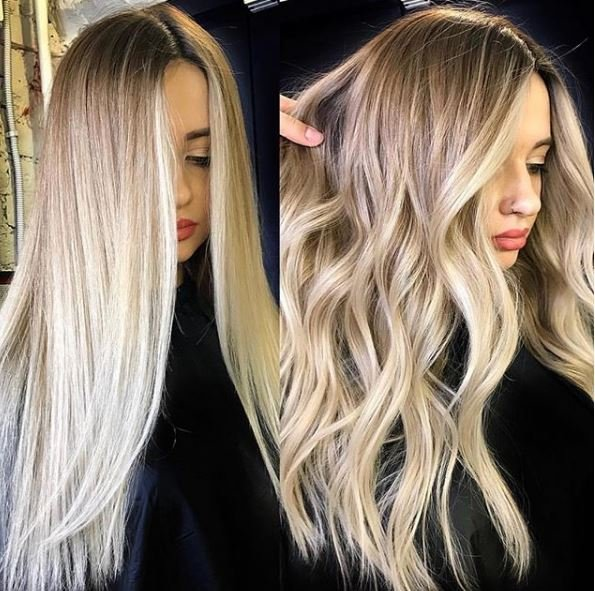Silky smooth or wonderful waves? Either way, the money piece is ON POINT, @zhenya_colourist.
