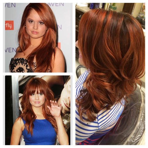 COPPER BALAYAGE: Color Inspiration Compared to Color Result