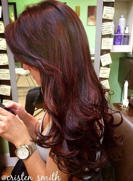 How To Give Dark Hair Dimension With Red Violet Tones Career