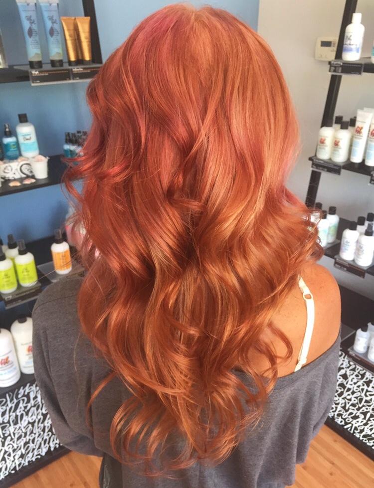 Color Correction Broken Blonde To Hot Rose Career Modern Salon
