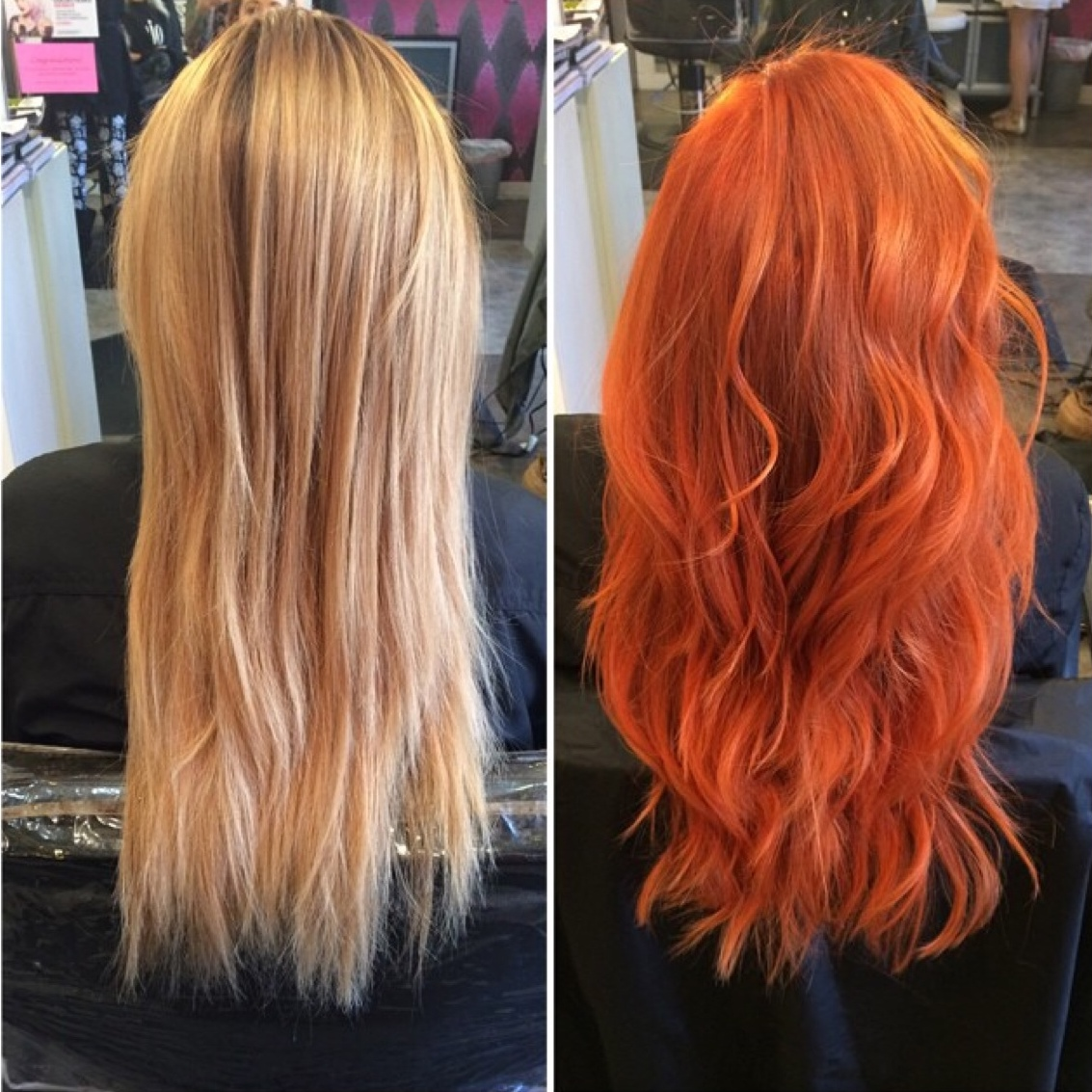 Transformation Fiery Golden Copper Career Modern Salon