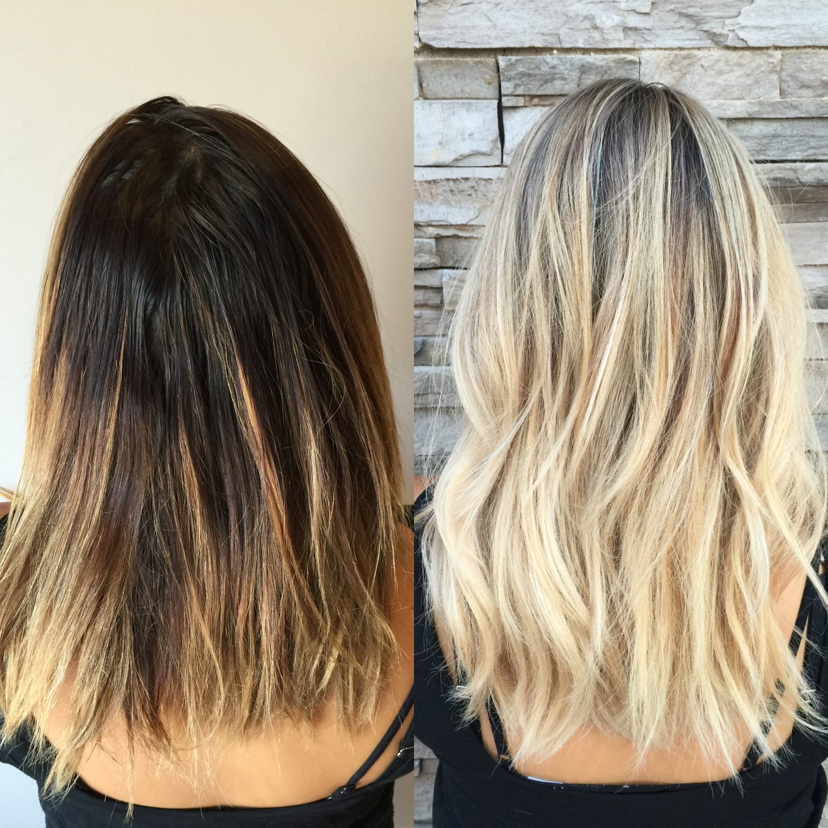 Transformation faded ombre to dimensional sombre career for Salon sombre