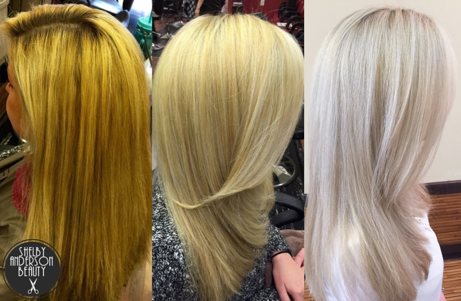 Transformation Orange To Cool Silver Blonde Career Modern Salon