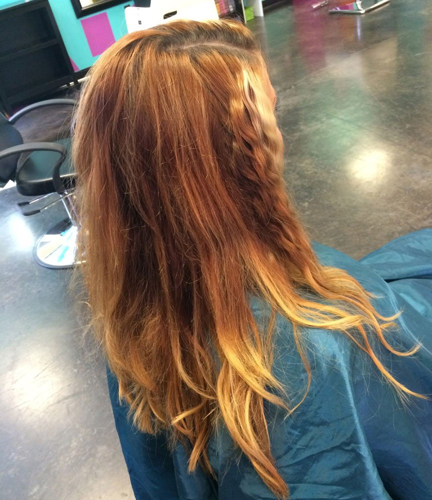 COLOR CORRECTION: Copper Brown to Healthy-Looking Ombre