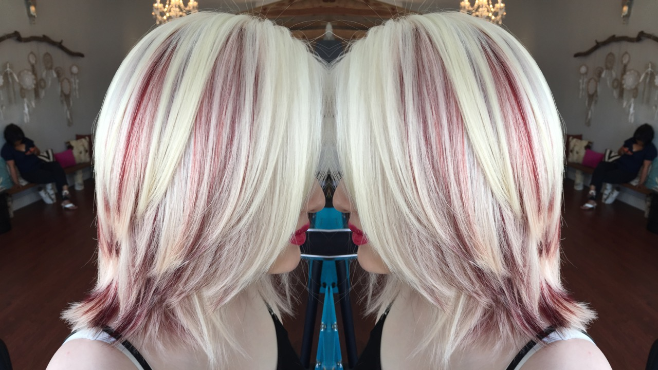 Peek A Boo Color On Client With Albinism Career Modern Salon