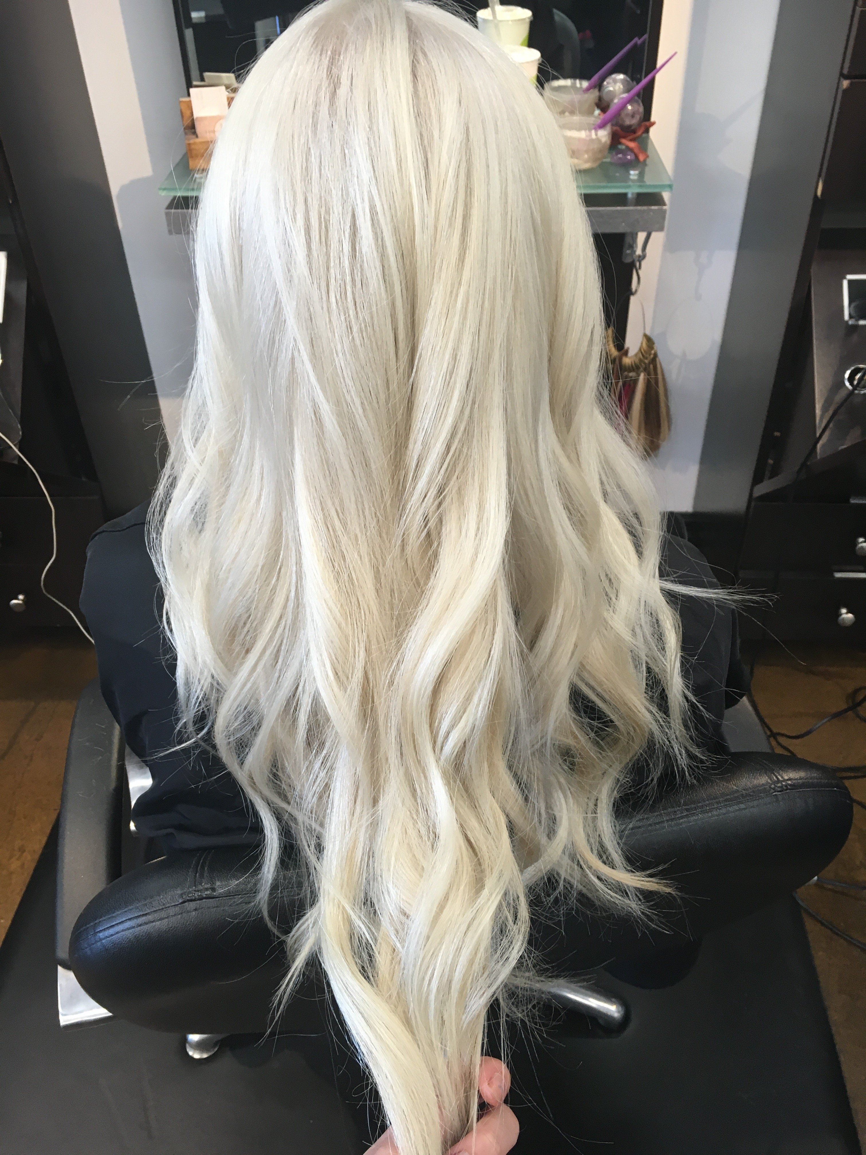 Makeover Faded Partial Weave To Platinum Ice Career