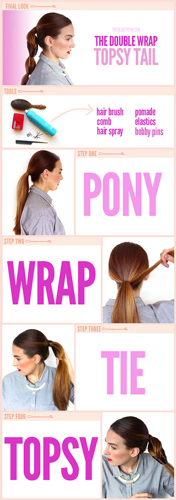 HAIR TUTORIAL: Double Wrap Topsy Ponytail