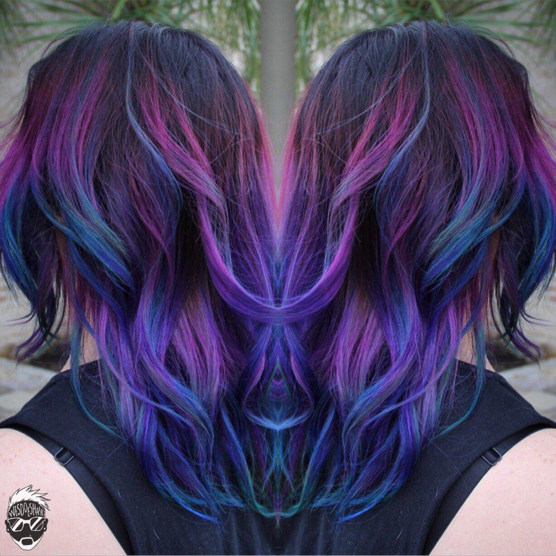 Colorful Color Melt Hair Color Modern Salon