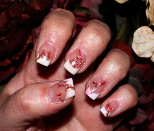 Day 105 Acrylic Cherry Blossom Nail Art Nails Magazine