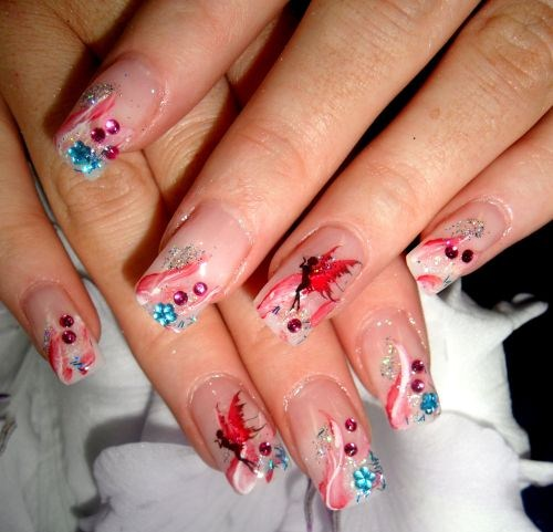 day 118 fairy nail art nails magazine. Black Bedroom Furniture Sets. Home Design Ideas