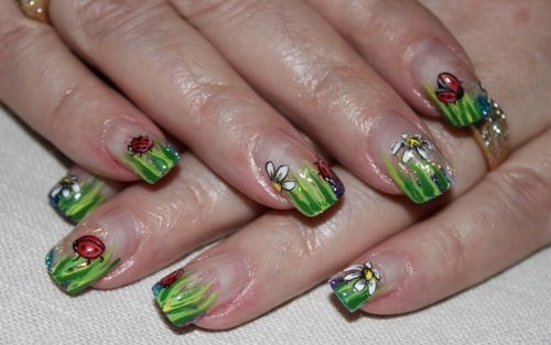 Beverly Townsend, Perfect Ten Nail Enhancements (Calgary, Alberta, Canada) - Day 123: Ladybug Nail Art - - NAILS Magazine