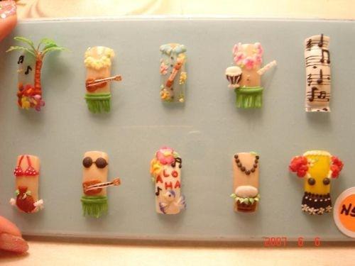 - Day 150: Hawaiian Nail Art - - NAILS Magazine