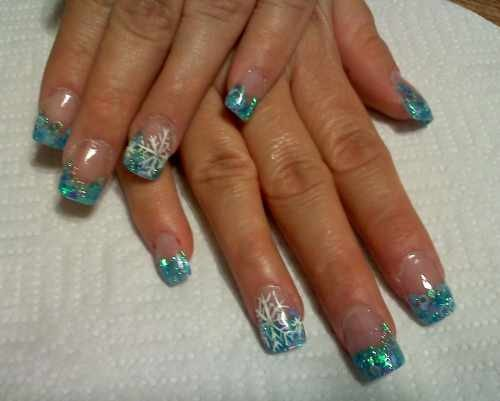 Day 18 Blue Winter Nail Art Nails Magazine