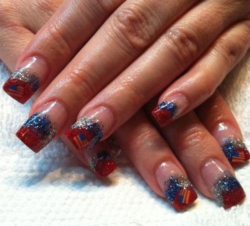 Day 185 Patriotic Nail Art Nails Magazine